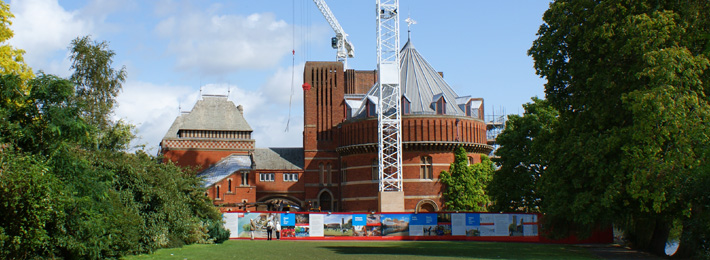 The Royal Shakespeare Theatre, currently under redevelopment